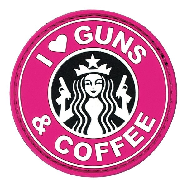 I love Guns & Coffee Patch Pink
