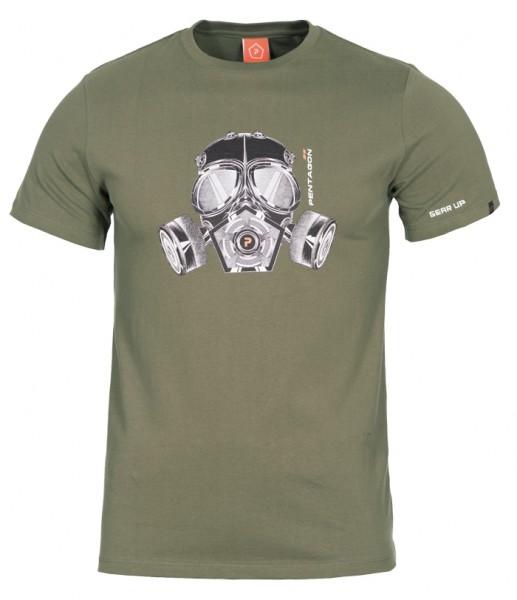 Pentagon T-Shirt Gas-Mask - T-Shirt mit Pentagon Gasmaske